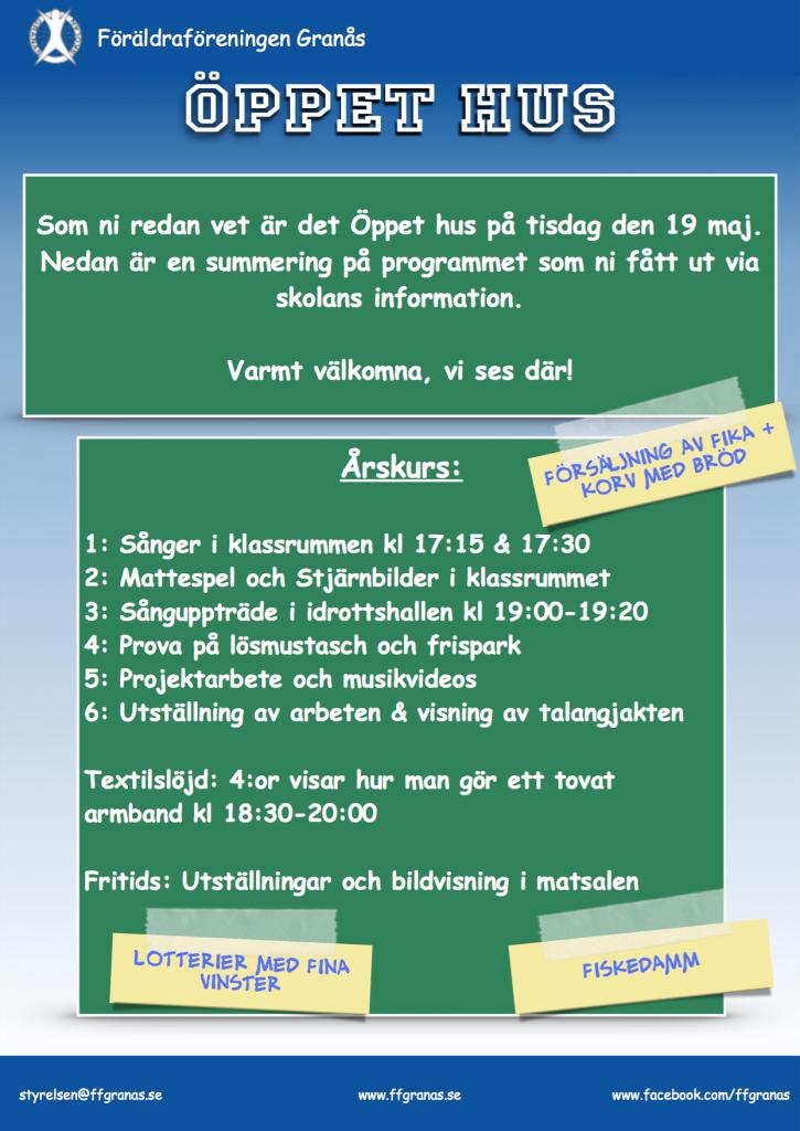 Öppet hus - Program